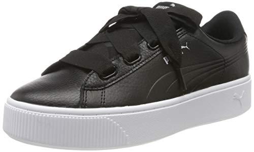 PUMA Damen Vikky Stacked Ribbon Core Sneaker, Black Black, 40 EU