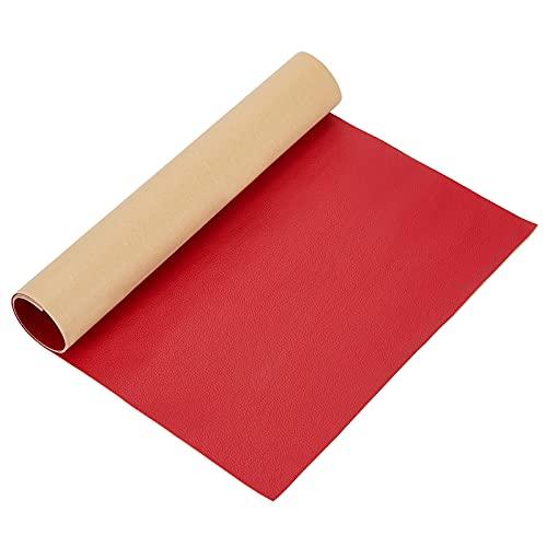BENECREAT 30x60cm Selbstklebendes Lederreparaturpatch Für Sofa Couch Autositzmöbel (Rot, 0.8mm Dick)