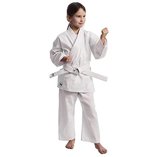 Ippon Gear Kinder Jugend Club Karate GI Anzug, weiß, 170