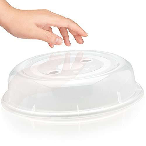 Abdeckung für die Mikrowelle von Hausfelder - Standard Ausführung ø26,5x6cm - robust und BPA frei, Mikrowellen Deckel und Haube für Mikrowellengeschirr