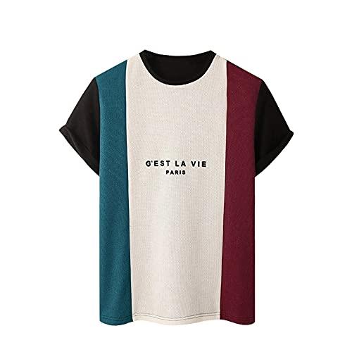 BIBOKAOKE Herren T-Shirt Rundhals Kurzarm Fashion Farbespleiß Kurzarmshirt Sommer Freizeit Loose Strandhemd Dünne Atmungsaktivität Muscle Shirts Basic Regular Fit Crew Neck Männer T-Shirts