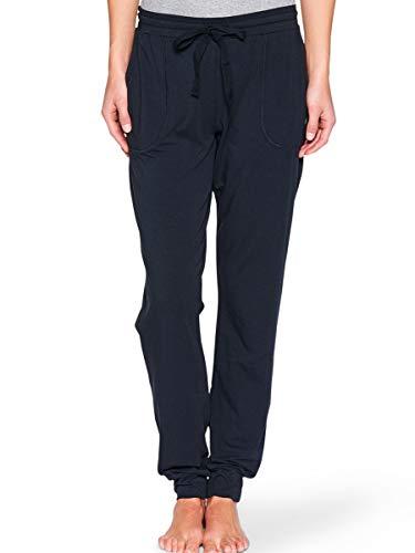 Marc O'Polo Damen Lange Schlafanzughose Hose Lang - 147127, Farbe:Blauschwarz, Größe Damen:XS