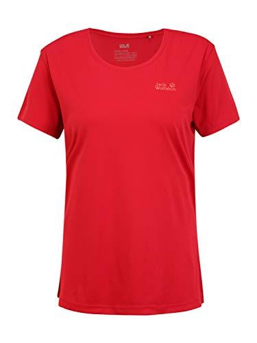 Jack Wolfskin Damen Tech T-Shirt, Scarlet, M