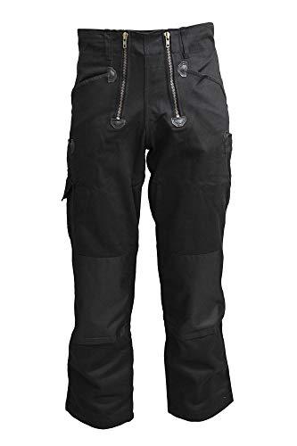 TMG® Zunfthose für Herren ohne Schlag, Lange Zimmermannshose mit Kniepolstertaschen 400gr Schwarz 56
