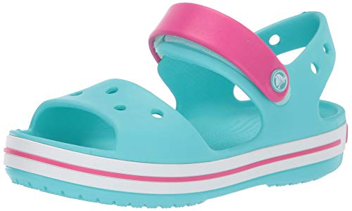 crocs Unisex-Kinder Crocband Kids Knöchelriemchen Sandalen, Pool/Candy Pink, 27/28 EU
