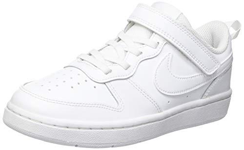 Nike Unisex Kinder Court Borough Low 2 (TDV) Sneaker, White/White-White, 26 EU