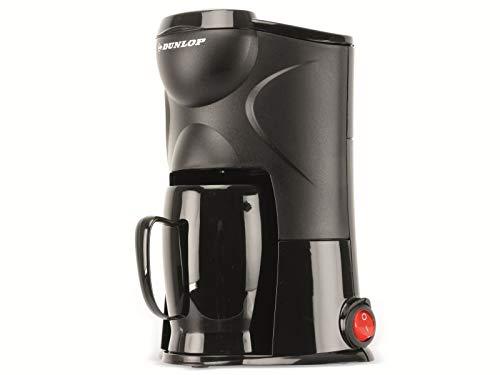 Dunlop - 1-Tassen-Kaffeemaschine 170W   Dauerfilter   ideale Reise-Kaffeemaschine   Anschluss an Zigarettenanzünder  für PKW, LKW, Wohnmobil   mit An- und Ausschalter (12V)