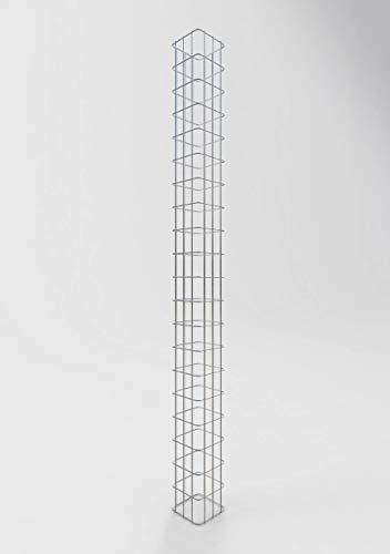 GABIONA Gabionensäule eckig feuerverzinkt, 17 cm x 17 cm, 200 cm Höhe, MW 5 cm x 10 cm