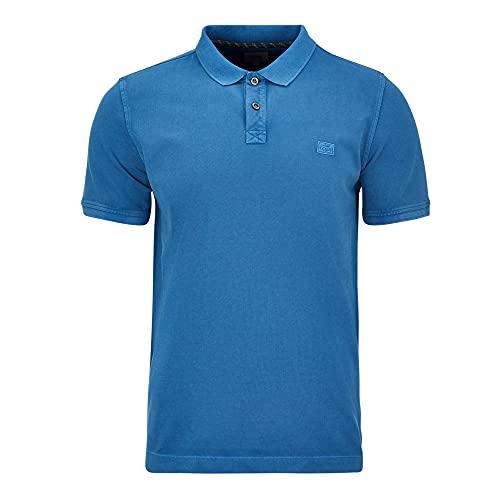 camel active Herren 4094605P00 Polohemd, Strong Blue, 4XL