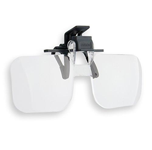 Carson OD-14 Clip & Flip 2x Klemm Brillen Lupe für Angeln, Fliegenfischen, Lesehilfe, Handarbeit