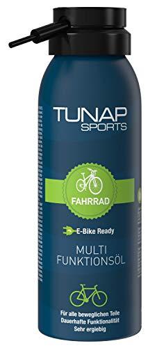 TUNAP SPORTS Multifunktionsöl, 125 ml   Spray für alle Teile am Fahrrad, Wartung und Pflege an MTB, Rennrad, E-Bike (125ml)
