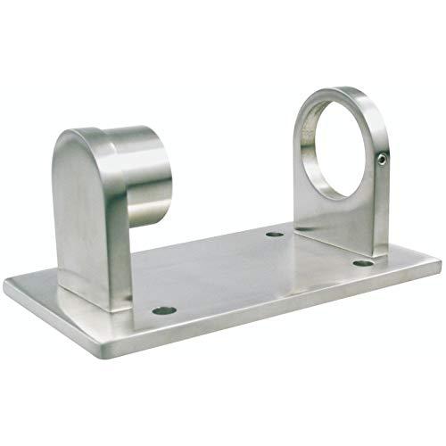 Edelstahl Wandanker Rohrhalter Wandhalter Pfostenhalter für Rohr Ø 42,4 mm
