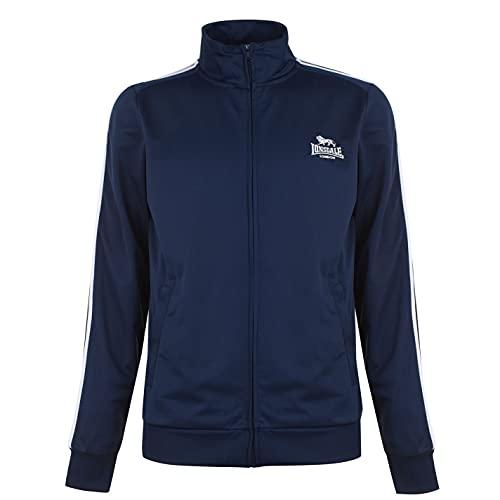 Lonsdale Herren Trainingsjacke Jacke Sportjacke Sport Freizeit Reissverschluss Navy/Grey Extra LGE