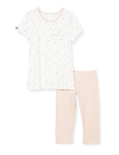 Skiny Mädchen Pyjama 3/4 Every Night Zweiteiliger Schlafanzug, Ivory Galaxy, 152