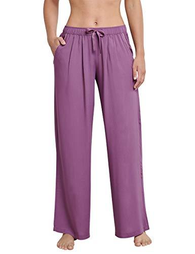 Schiesser Damen Mix & Relax Webculotte Lang Schlafanzughose, Rot (Beere 512), 40 (Herstellergröße:040)