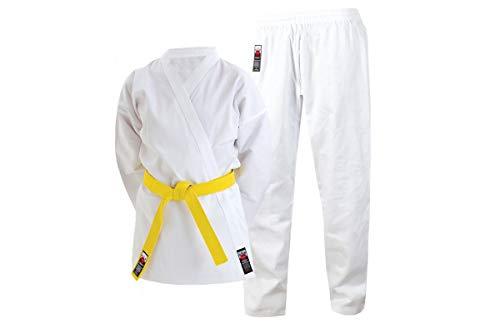 Cimac Karateanzug Gi Erwachsene Kinder Jungen Uniform 110 120 130 140 150 160 170 180 Gratis weißer Gürtel, weiß, 150cm (4ft 8