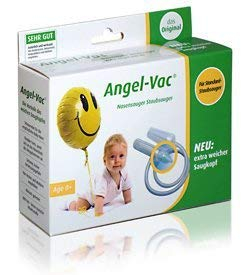 Angel-Vac Nasensauger für Standard Staubsauger Mit extra weichem Saugkopf Das Original Baby Nasensauger