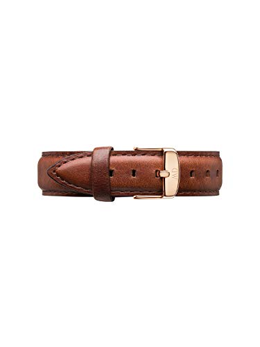 Daniel Wellington Classic St Mawes, Braun/Roségold Uhrenarmband, 18mm, Leder, für Damen und Herren