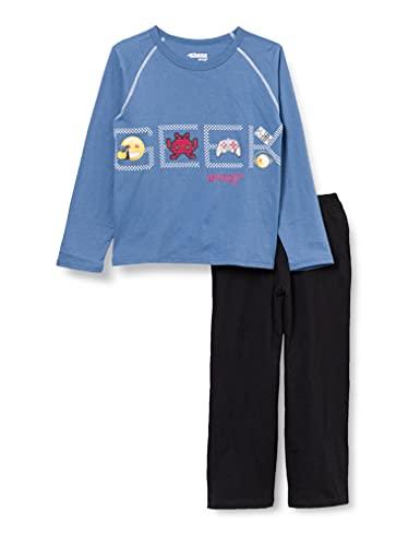 ATHENA Jungen Emoji 7J79 Pyjamaset, Bleu, 6-8 Jahre