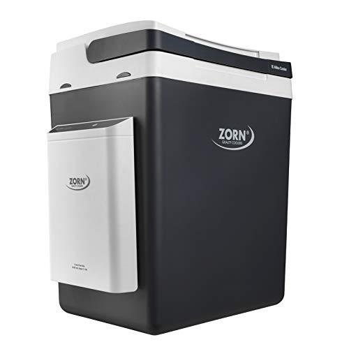 Zorn® I Elektrische Kühlbox mit Akku I E Akku Cooler I Kapazität 30 L I 12/230 V für Auto, Boot, LKW, Balkon und Steckdose