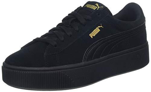 PUMA Damen Vikky Stacked SD Sneaker, Schwarz (Puma Black-Puma Black), 38.5 EU
