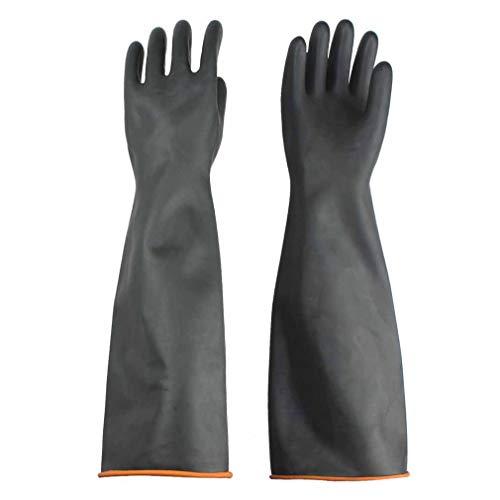 Handschuhe Säurefest Lang,Chemikalien Schutz Handschuhe Säure und Alkalibeständigkeit handschuhe,Chemie Handschuhe, 22inch/55cm-Schwarz
