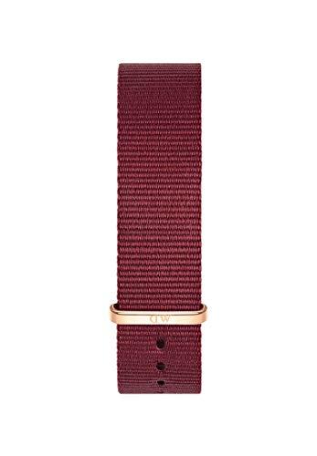 Daniel Wellington Classic Roselyn, Rubinrot/Roségold Uhrenarmband, 18mm, NATO, für Damen und Herren