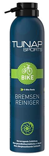 TUNAP SPORTS Bremsenreiniger Spray   Fahrrad Bremsen reinigen   Entfernt Verschmutzungen, zugunsten der Bremsleistung (E-Bike Ready 300ml)