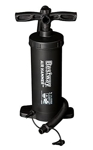 Bestway Unisex-Adult Luftpumpe Handpumpe Air Hammer 30cm, schwarz-schwarz, 30 cm
