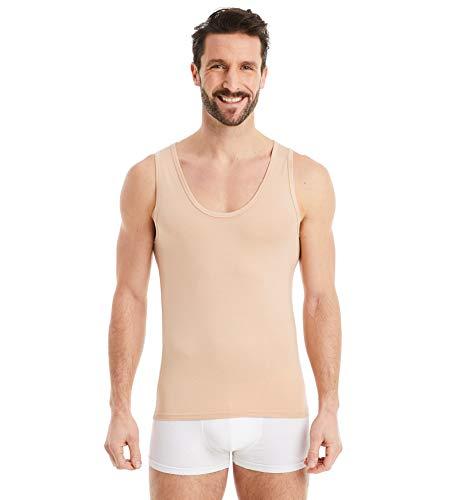 FINN Business Unterhemd Herren Ärmelloses Tank-Top Männer Unterziehshirt Micro-Faser Unsichtbare Hautfarbe Nude XL