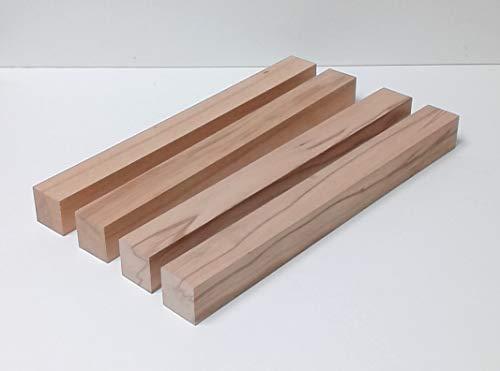 4 Kanthölzer Tischfüße Drechselholz Bastellholz Kernbuche massiv. Maße : 48x48x300mm lang. Sondermaße. …