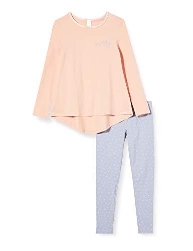 Skiny Mädchen Lovely Sleep Girls Pyjama lang Zweiteiliger Schlafanzug, Mehrfarbig (rose cloud 2196), (Herstellergröße:164)