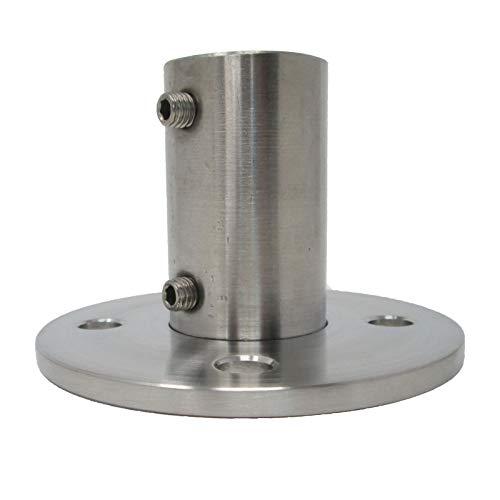 Edelstahl Bodenanker für Rohr-Ø 42,4 x 2,0 mm Rund Pfostenrohr Pfostenhalter Geländerhalter von SO-TOOLS®