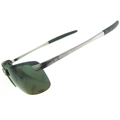 Sanwood Herren Sonnenbrille Motorradbrille Bikerbrille Polarisierende Autofahrer Brille (Grün)