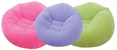 INTEX Aufblasbarer Sitzsack Stuhl Sessel verschiedenen Farben Sitzkissen Loungesessel Kissen NEU, Farbe:Lila
