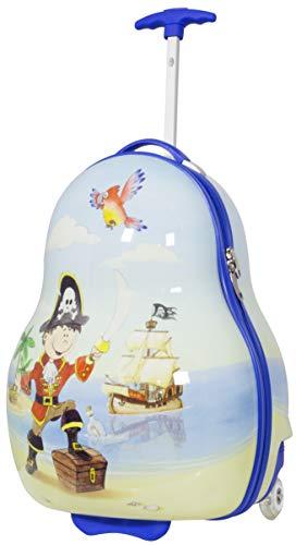 Trendyshop365 Kinder-Koffer Hartschale Pirat 54 Zentimeter 32 Liter 2 LED-Räder Handgepäck