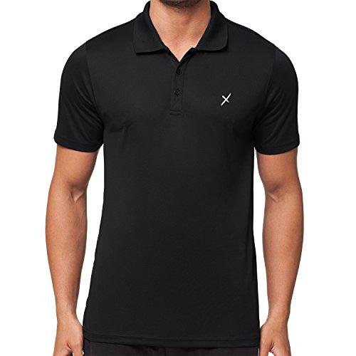 CFLEX Herren Sport Shirt Fitness Polo-Shirt Sportswear Collection - Schwarz M