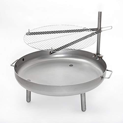 Czaja Stanzteile Grillrost Ø 60 cm für alle Feuerschalen ; Universell einsetzbarer Grillrost für alle Feuerschalen mit Höhenverstellung und Schwenkfunktion.