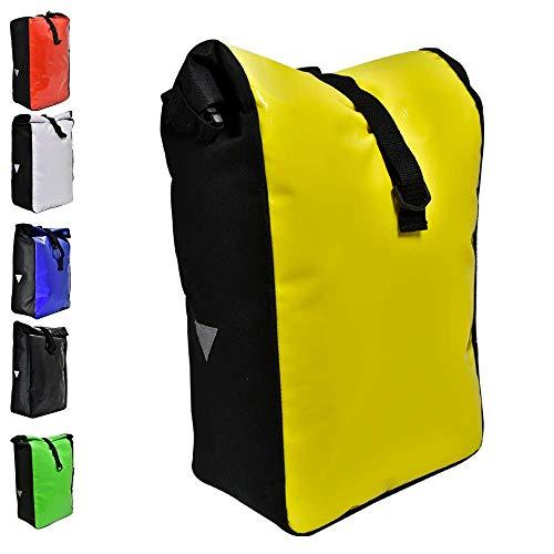 Büchel Fahrradtasche aus Tarpaulin, Besfestigung am Gepäckträger, gelb, 81516015