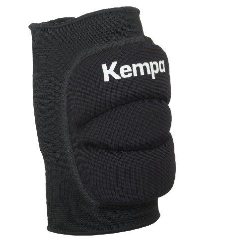 Kempa Kinder Knie Indoor Protektor Gepolstert Knieschoner, schwarz, S