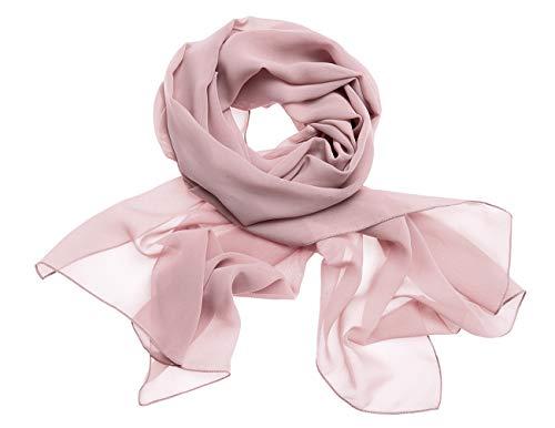 Dresstells Chiffon Schal Stola für Abendkleider in Verschiedenen Farben Blush 200cmX75cm/ Large