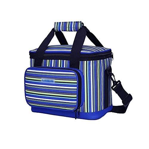 Camping 16 Dosen Picknick-Kühltaschen isoliert auslaufsicher Lunch-Kühler für Büro Arbeit Schule Picknick Reisen Strand Outdoor Freizeit (Farbe: Orange) ZJ666 (Farbe: Blau)