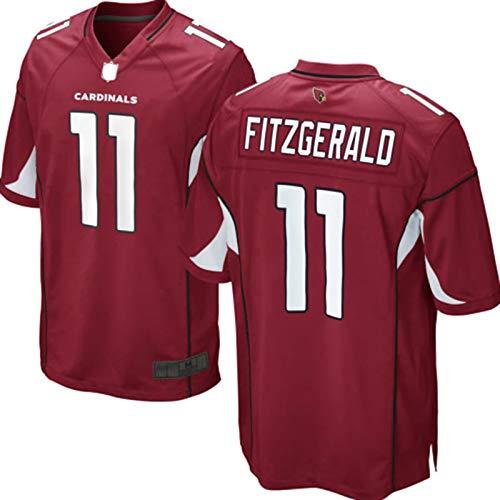 LIMONG Larry Outdoor Fitzgerald Custom Arizona Football Cardinals T-Shirts Game Player Jersey NO.11 Atmungsaktives Netzgewebe Casual Kurzarm - Cardinal