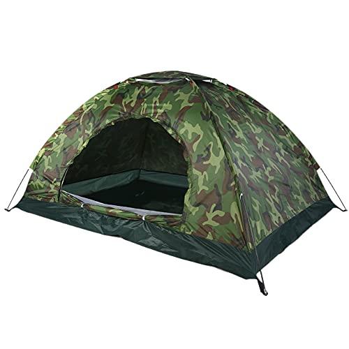 Dioche Campingzelt, Outdoor Camping Zelt Camouflage 2 Personen, Wasserdicht Camouflage UV-Schutz 2 Personen Zelt für Outdoor Camping Wandern mit Tragbaren Tragetasche