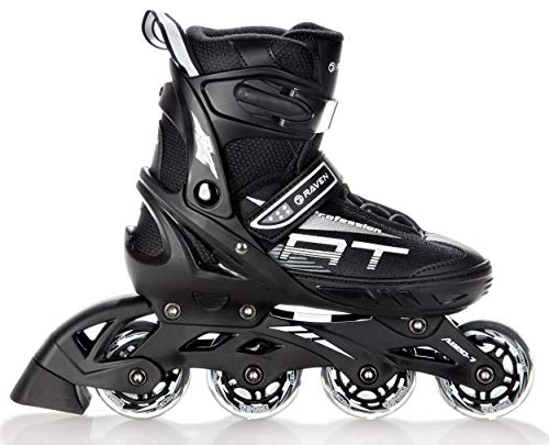 RAVEN Inline Skates Inliner Profession Black verstellbar (35-39(23cm-25,5cm))