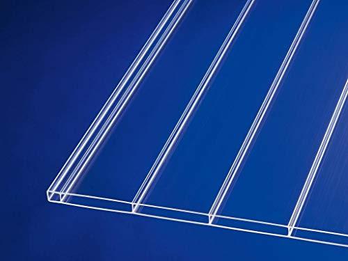 Acryl-Stegplatten Plexiglas® 16mm ALLTOP uv-lichtdurchlässig, klar, 64mm Stegabstand, No Drop Beschichtung (B x T) 980mm x 2500mm
