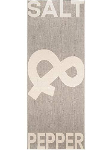 benuta Küchenläufer Salt & Pepper Grau 80x200 cm   Pflegeleichter Teppich geeignet Küche und andere Wohnräume