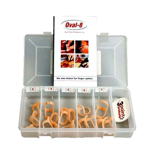 Oval 8 | Finger Splint | Finger Schiene | kleines Set | 15 Oval 8® Finger Splints in verschiedenen Größen in einer praktischen Aufbewahrungsbox