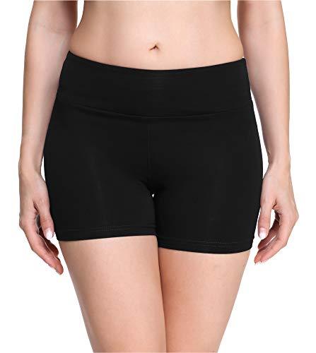 Merry Style Damen Shorts Radlerhose Unterhose Hotpants Kurze Hose Boxershorts aus Viskose MS10-284(Schwarz,XL)