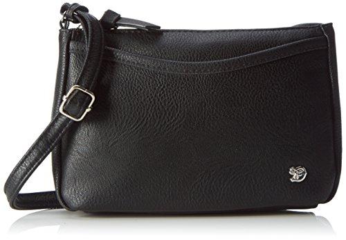 TOM TAILOR Umhängetasche Damen Cilia, (Schwarz), 4x14x21.5 cm, TOM TAILOR Handtaschen, Taschen für Damen, klein